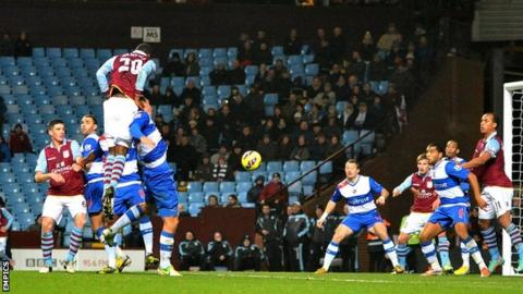Christian Benteke scores for Aston Villa