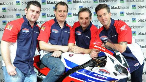 Michael Dunlop, John McGuinness, Michael Rutter and Simon Andrews
