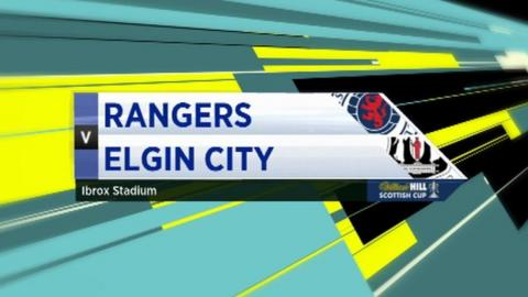 Rangers v Elgin City