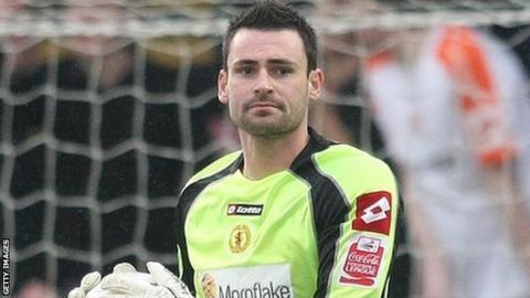 Crewe Alexandra goalkeeper Steve Phillips