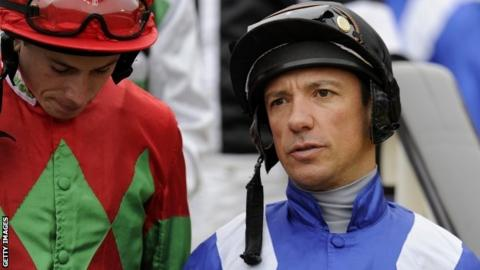 Frankie Dettori (right) with former champion jockey Jamie Spence