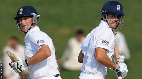Jonathan Trott and Alastair Cook