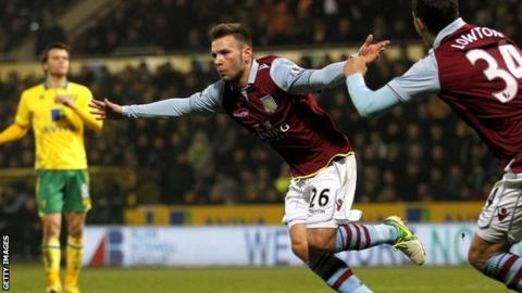 Andreas Weimann (centre) celebrates scoring