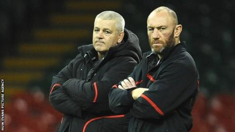 Wales coaches Warren Gatland and Robin McBryde