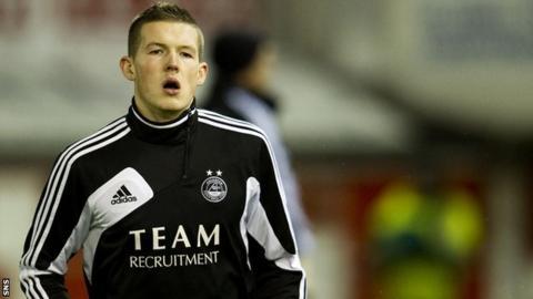 Aberdeen midfielder Jamie Masson
