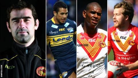 L-R: Laurent Frayssinous, Brent Webb, Leon Pryce, Scott Dureau