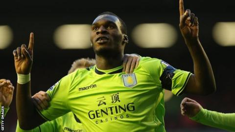 Aston Villa striker Christian Benteke