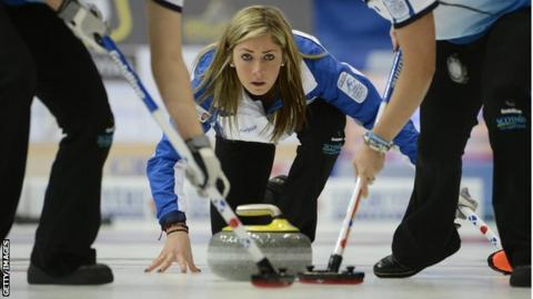Scotland skip Eve Muirhead in action at the European finals