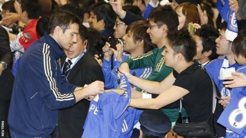 Chelsea experience 'Beatlemania' in Japan