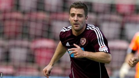 Hearts midfielder Scott Robinson