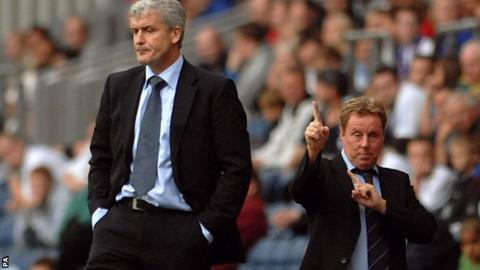 Mark Hughes (left) and Harry Redknapp (right)