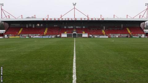 Crawley Town's Broadfield Stadium