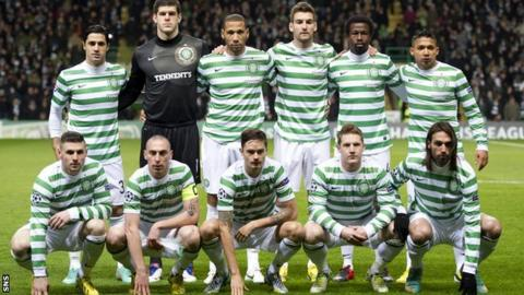 The Celtic team that beat Spartak Moscow in Glasgow
