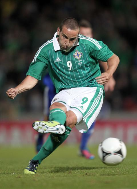 Martin Paterson's 84th minute penalty gave Northern Ireland a 3-3 draw in a friendly against Finland at Windsor Park in August