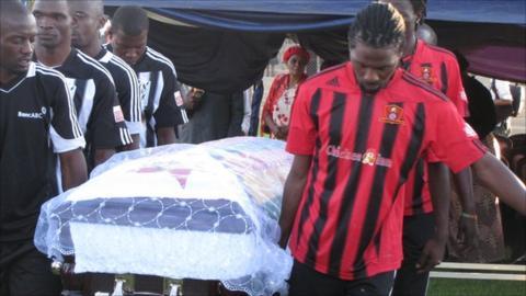 Adam Ndlovu burial