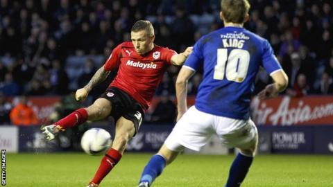 Craig Bellamy puts Cardiff ahead at Leicester