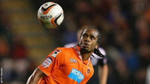 Blackpool forward Nathan Delfouneso