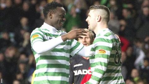 Victor Wanyama and Gary Hooper of Celtic