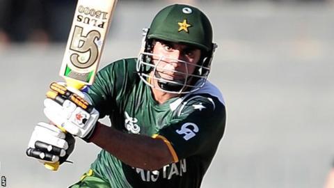 Pakistan batsman Nasir Jamshed