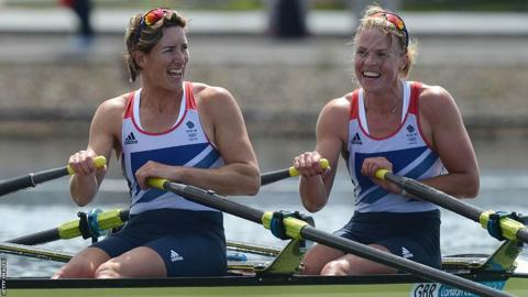 Olympic rowers Katherine Grainger and Anna Watkins