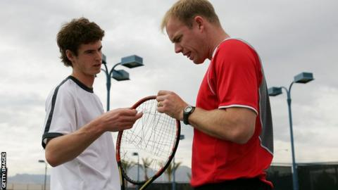 Andy Murray and Mark Petchey