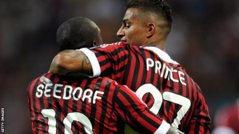 Clarence Seedorf and Kevin-Prince Boateng