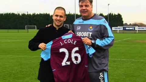 Joe Cole and Sam Allardyce