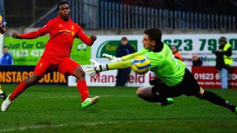 Liverpool striker Daniel Sturridge scored on his debut against Mansfield in the FA Cup