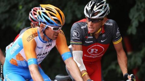 David Millar and Lance Armstrong