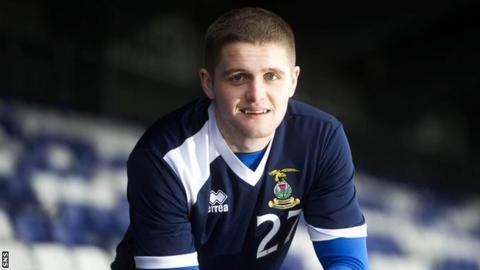 Inverness defender Danny Devine