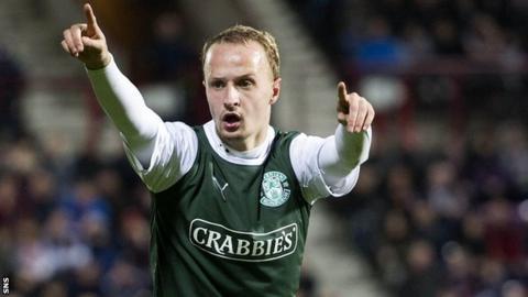 Striker Leigh Griffiths is on loan at Hibernian