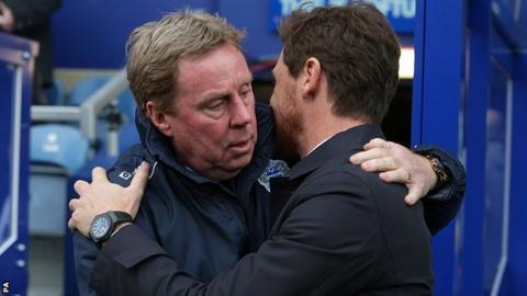 QPR boss Harry Redknapp (left) and Tottenham manager Andre Villas-Boas