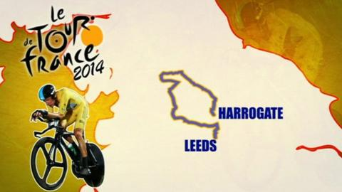 Tour de France 2014 route graphic
