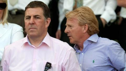 Mark McGhee (left) and Scotland manager Gordon Strachan
