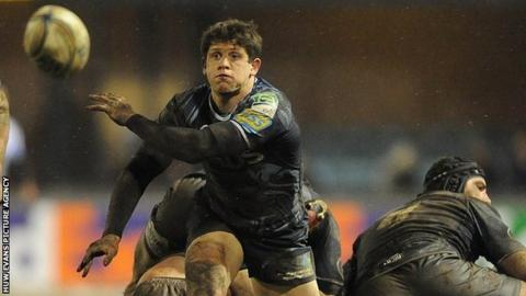 Cardiff Blues scrum-half Lloyd Williams