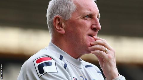 Tranmere Rovers manager Ronnie Moore