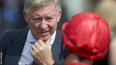 Manchester United manager and part-owner of Harry The Viking, Sir Alex Ferguson