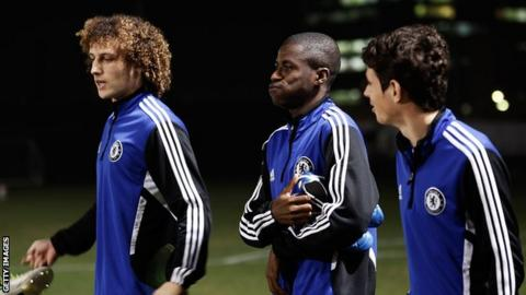 David Luiz (left), Ramires (centre) and Oscar