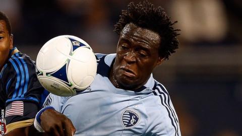 Sporting Kansas City striker Kei Kamara