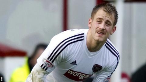 Hearts defender Danny Grainger