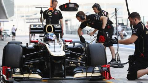 Edoardo Mortara testing for Lotus F1 Team