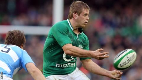 Chris Henry in action for Ireland against Argentina in November