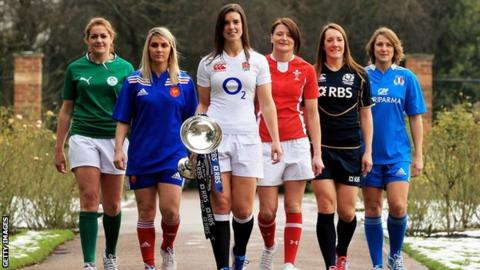 England captain Sarah Hunter with the other Six Nations captains