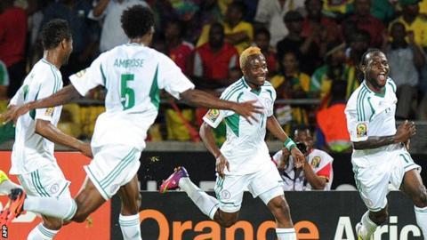 Nigeria players celebrating