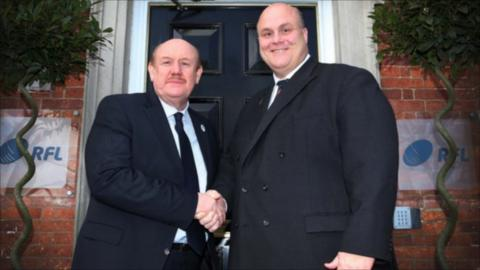 Brian Barwick with Nigel Wood