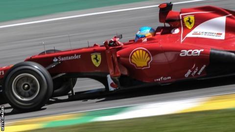 Ferrari's Fernando Alonso