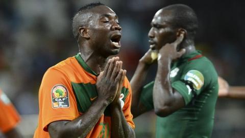 Zambia striker Emmanuel Mayuka