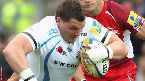 Exeter Chiefs rugby player James Phillips