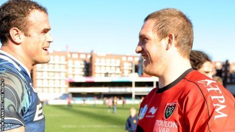 Jamie Roberts and Gethin Jenkins (right)