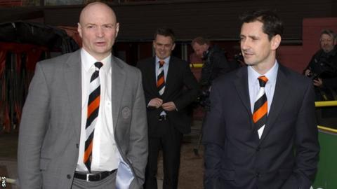 Dundee United chairman Stephen Thompson and manager Jackie McNamara